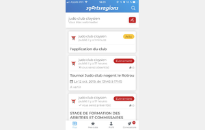 l'application du club